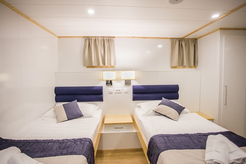 MS Kapetan Bota single beds cabin