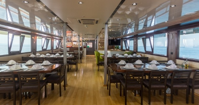 MS Premier dining area, Cruise Croatia