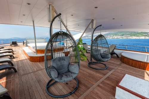MS President, outside lounge area, Cruise Croatia