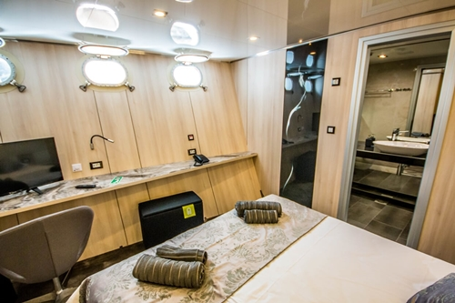 MV Black Swan cabin