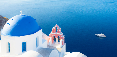 Small ship cruise: Santorini