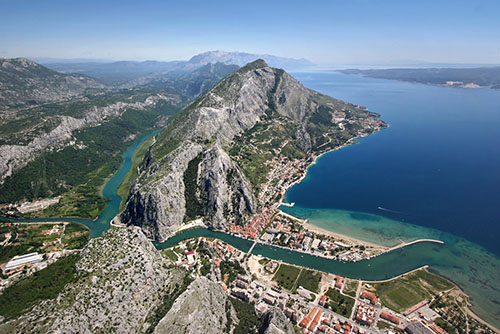 Old pirates town Omis, Croatia