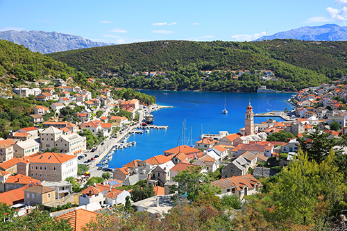 Medieval town of Pucisca on Brac Island