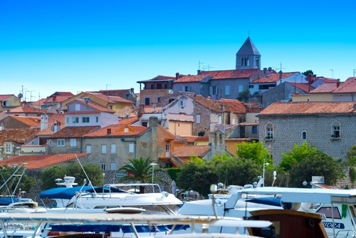 Croatia, Rab City harbor