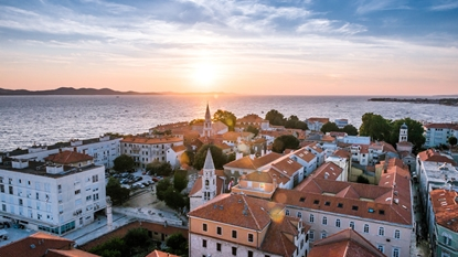 Zadar city sunset415