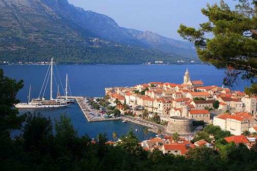 Korcula island and the city, Croata