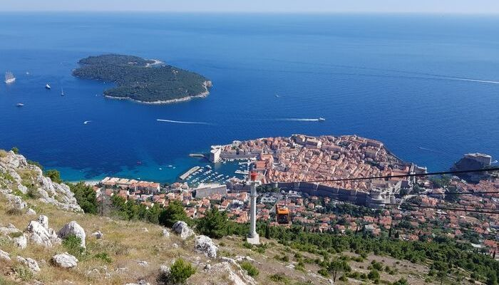 Dubrovnik Cable Car. Mount Srd, Croatia,