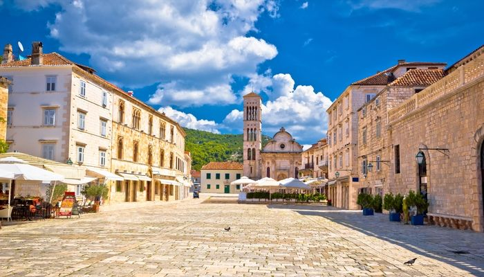 Hvar Old Town. St Stephen's Square, Croatia, Unforgettable Croatia