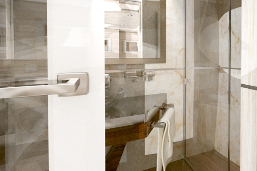MS Invictus, cabin en suite bathroom