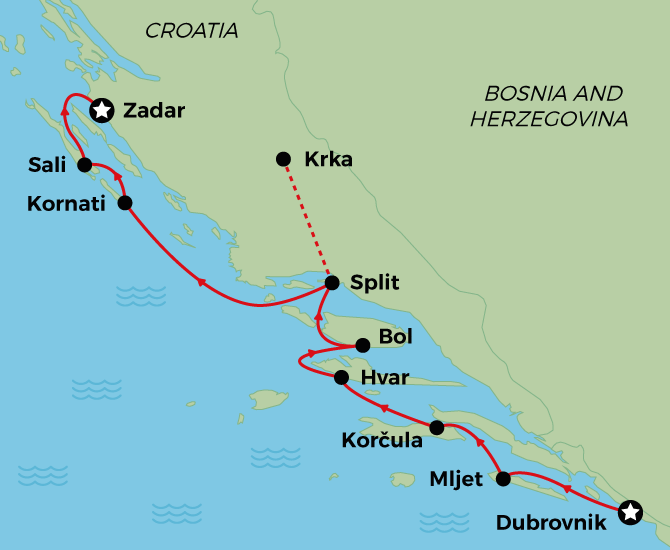 MS Premier Adriatic Cruise from Dubrovnik to Zadar