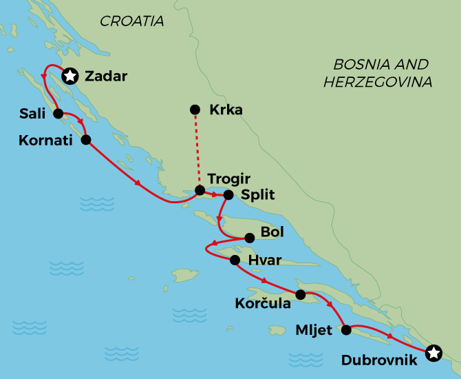 MS Premier Adriatic Cruise from Zadar to Dubrovnik