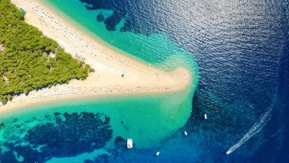 Famous Beach in Croatia