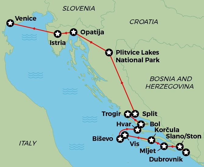 Adriatic Delights Cruise & Land Tour