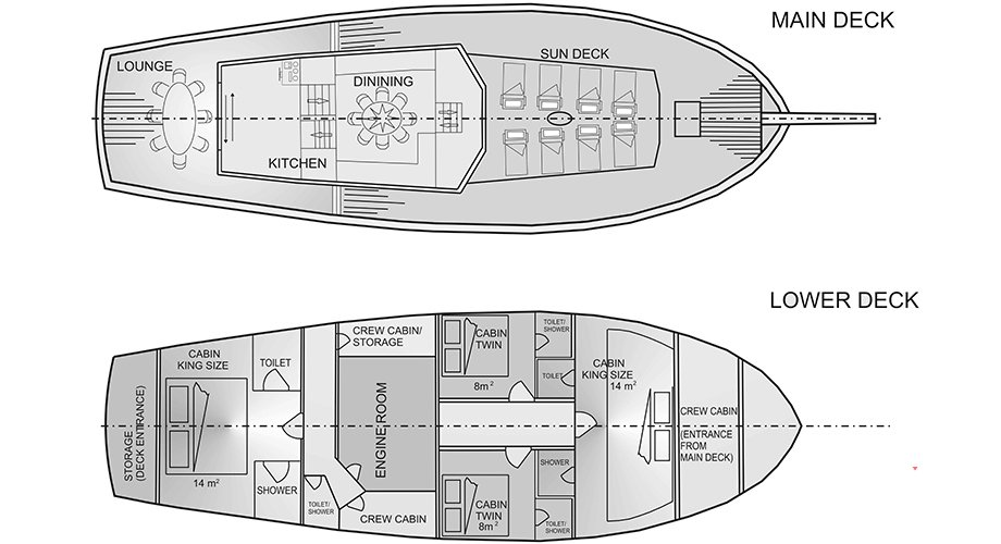 Gulet Saint Luca Deck Plan