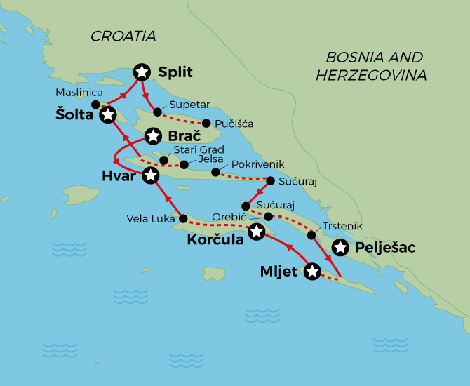 Southern Dalmatia Cycling Cruise