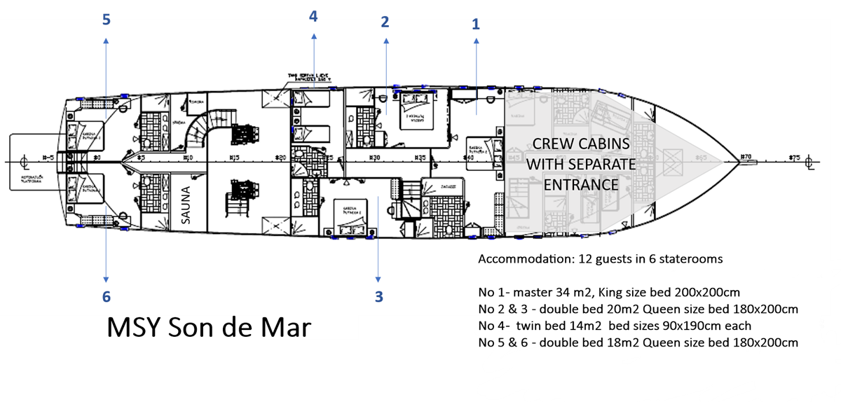 Son De Mar Deck Plan