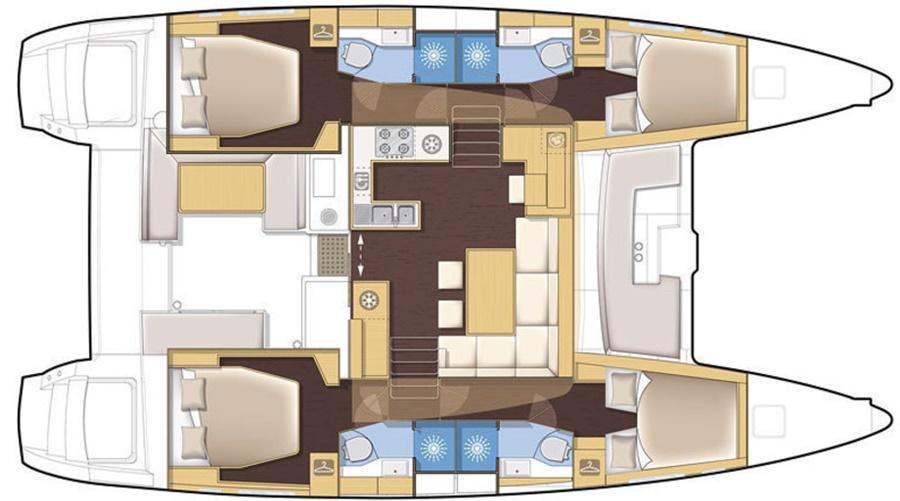 Lagoon 450 deck plan