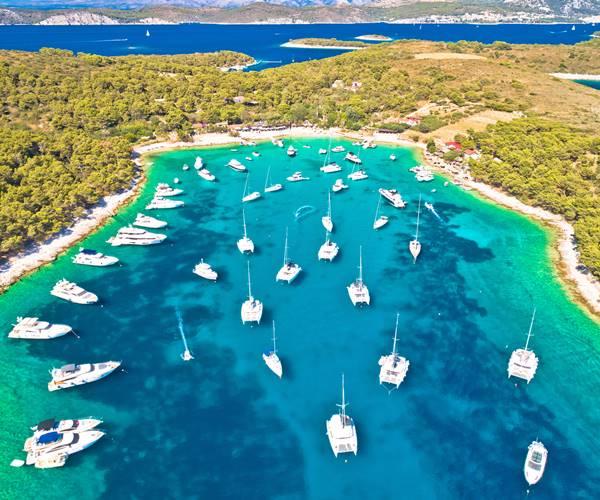 Sailing in Croatia in July