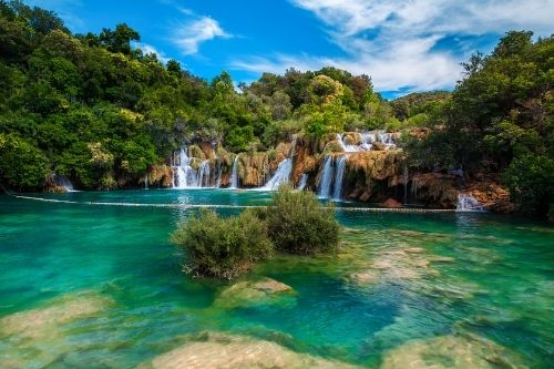 Krka Waterfalls National Park.