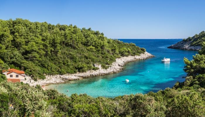 Zitna Bay, Korcula, Croatia