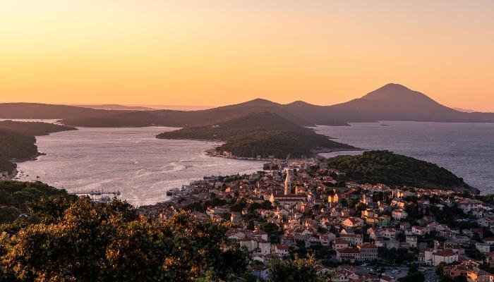 Overview of Mali Losinj, Croatia