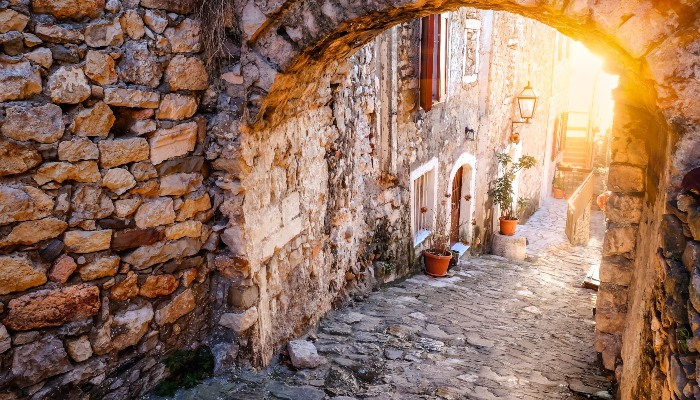 Old town of Ulcinj, Croatia