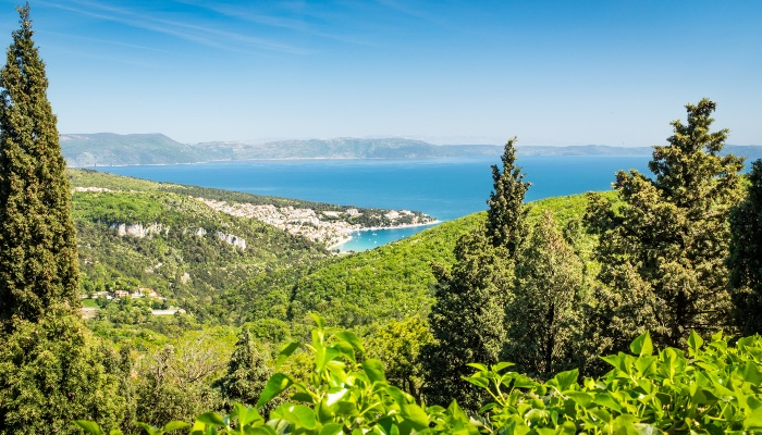 View of Rabac in Istria