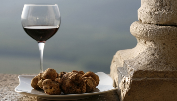 Wine and truffles, generic, Croatia