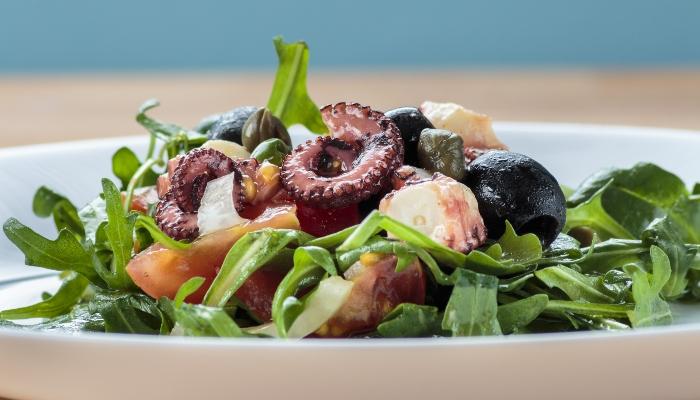 Octopus salad, Croatia