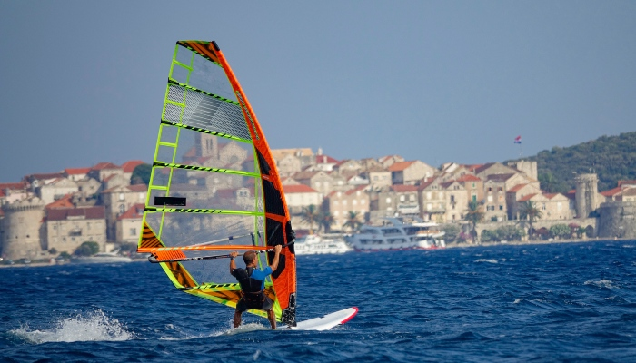 Windsurfer off Zjnan Beach, Split