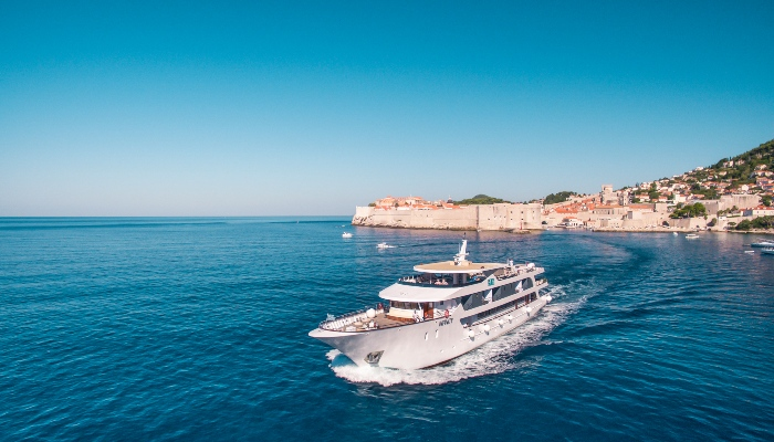 Infinity Cruise ship leaving Dubrovnik